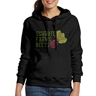 f829a6579 EHECD Classic Hooded Hoodie Jacket Schrute Farms Beets Funny Pullover for  Woman at Amazon Women's Clothing store: