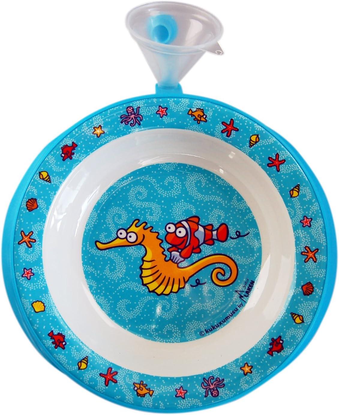 Kukuxumusu Plato-Termo Infantil Azul con Embudo