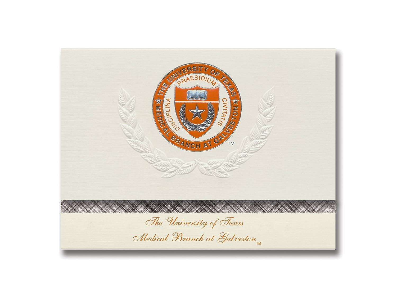 Signature Ankündigungen Universität von Texas Texas Texas Medical Ast Abschluss Ankündigungen, platin Stil, Elite Pack 20 mit u. der Texas Medical Ast Dichtung Folie B0793NCB14 | Ausgang  86493c