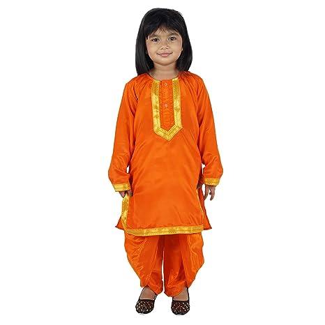 4cb12d787b Buy Shri Nikunj Punjabi Girl Kids Costume Wear Fancy Dress Online at Low  Prices in India - Amazon.in