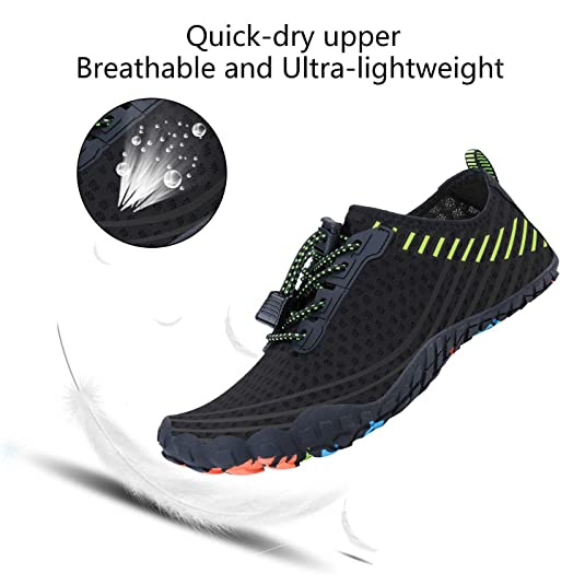 71fef280d553 Wonesion Water Shoes Mens Womens Quick Dry Sports Aqua Shoes for Swim  Surfing Diving Beach Yoga  Amazon.co.uk  Shoes   Bags