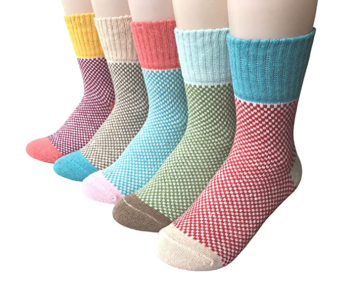 Bllatta Mujer Calcetines calientes,calcetines de invierno caliente suave cómodo Calcetines de la historieta térmicos