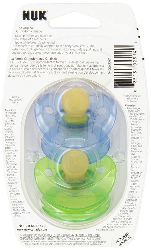 Gerber NUK chupete de látex BPA 6 + meses: Amazon.es: Bebé