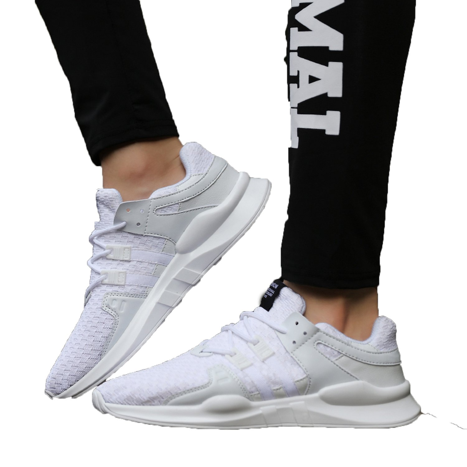 Amazon.com | Fashion-Lover Men Sports Shoes Running Lace-up Athletic Trainers Zapatillas Outdoor Walking Sneakers | Road Running