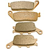 Front and Rear Sintered Brake Pads for Honda VTX 1300 2003 2004 2005 2006 2007 2008 2009 2010 2011