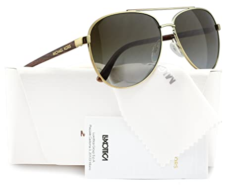 14cdab342cd Image Unavailable. Image not available for. Color  Michael Kors MK5007 Hvar  Polarized Sunglasses Gold w Brown Gradient ...