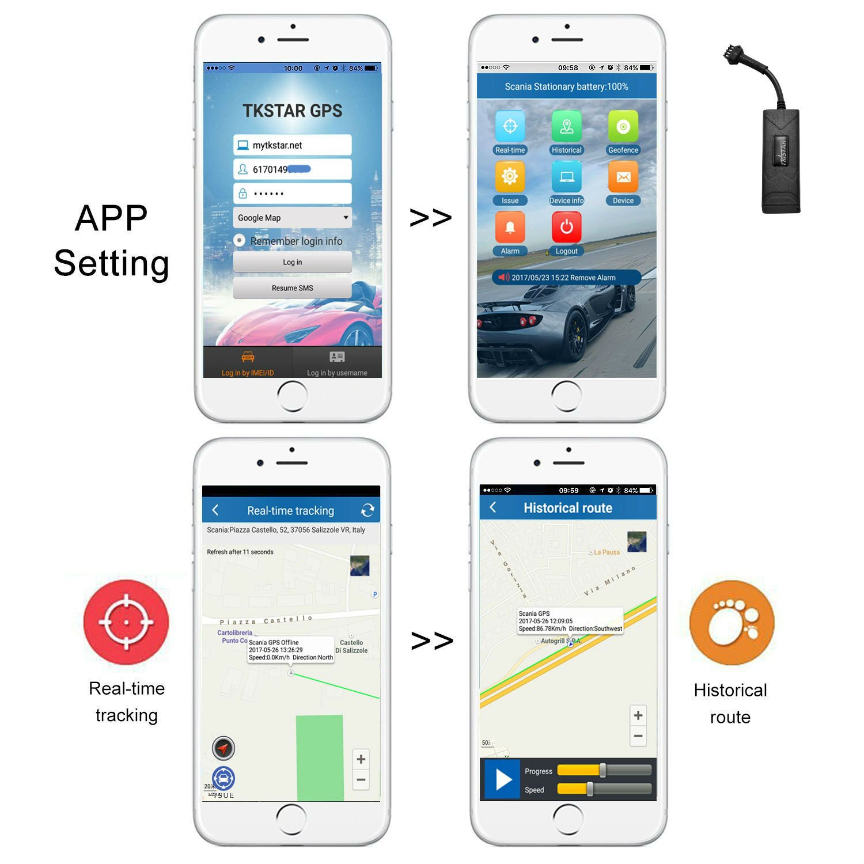 TKSTAR Auto LKW Fahrzeug Echtzeit GPS Tracker Anti-Diebstahl GPS Ortung Mini GSM GPRS SIM GPS location GPS Outdoor Navigation mit APP GPS Tracker