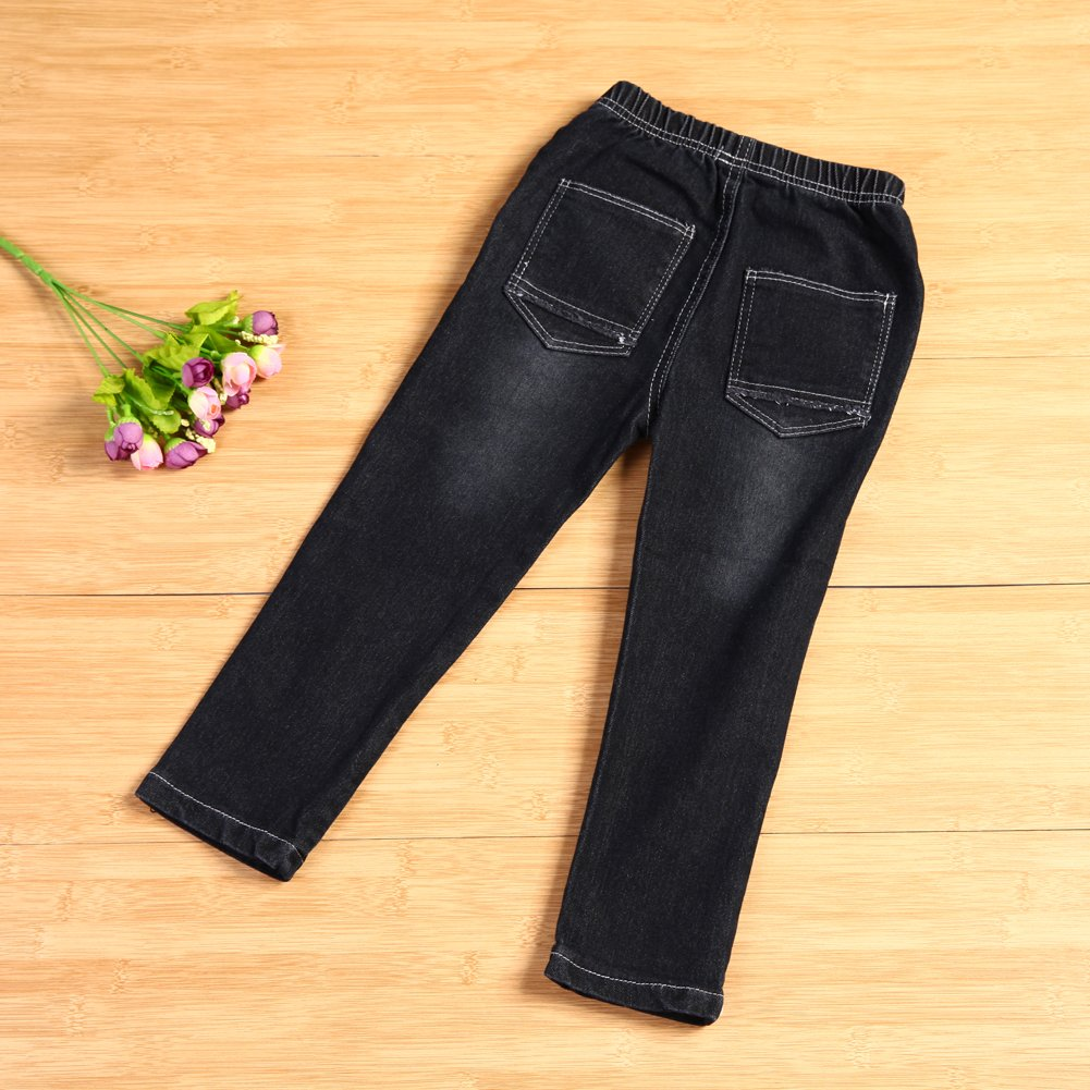 Chinatera Little Toddler Boy Denim Jeans Long Pants Trousers with Ripped Details For 2-3Y