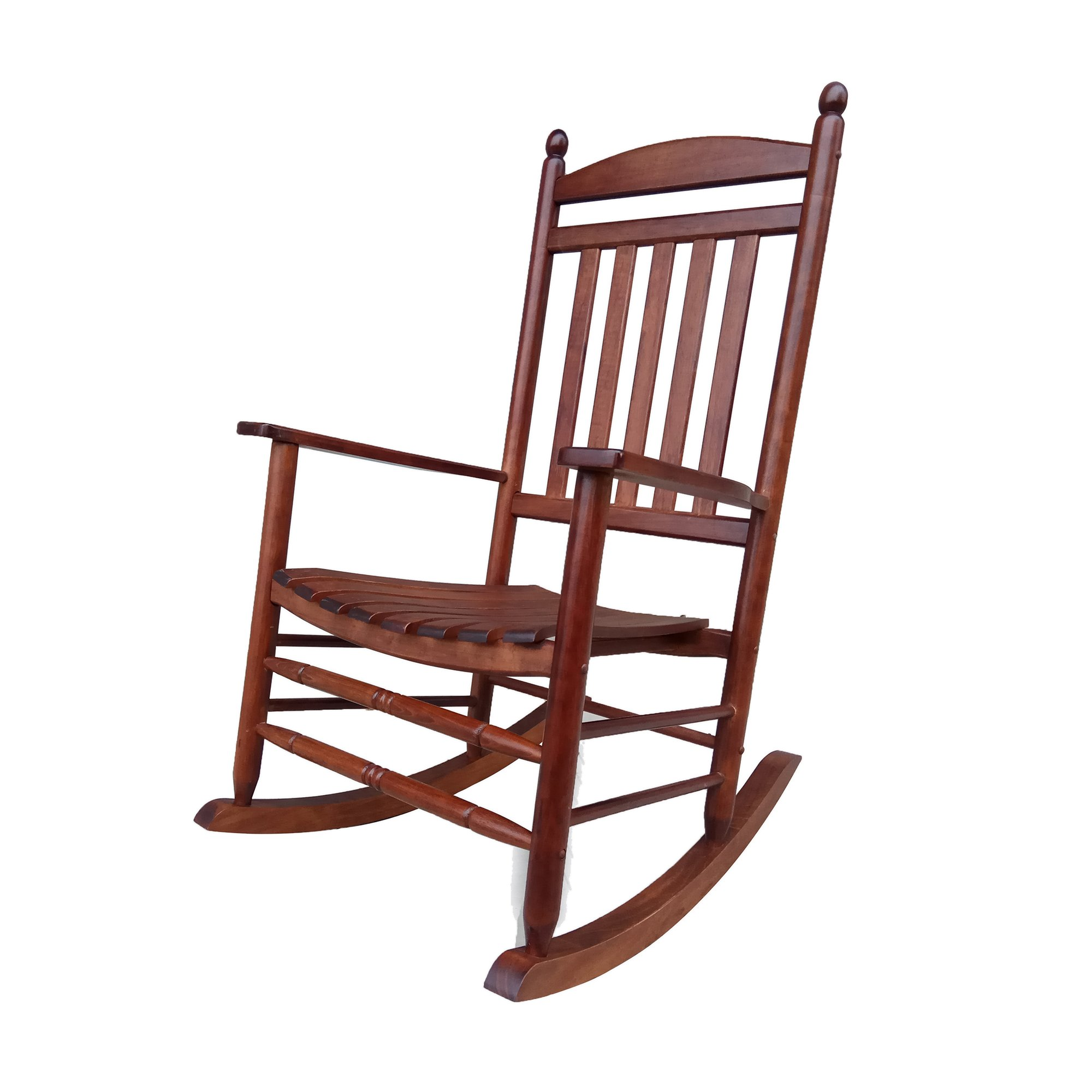 Rocking Rocker-A040NT Natural Wood Porch Rocker/Rocking Chair -Easy to Assemble-Comfortable Size-Outdoor or Indoor Use by Rockingrocker