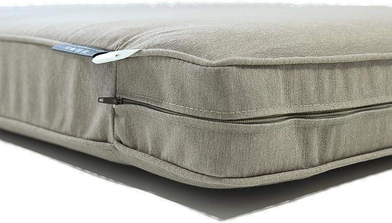 Cuscini per pallet talpa composti da cuscino seduta da 120x80 cm e cuscino schienale Cu-scino per bancali Cuscini per pallet da esterno Nordje Comfort Duo con fo-dera impermeabile
