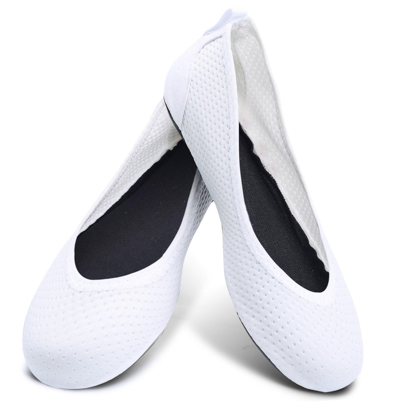 Centipede Demon Women Fitness Shoes Flats House Shoes Flexible Swim Shoes Bright White