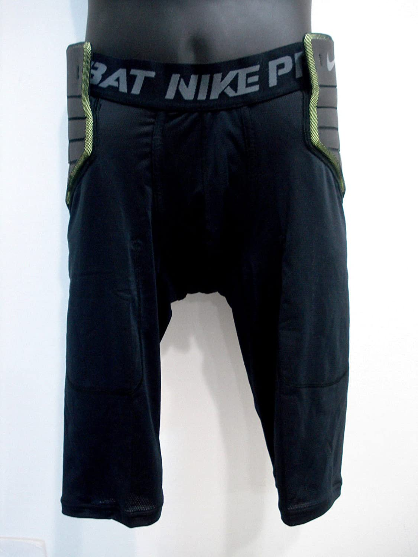 Nike 626419-010 Black Green Pro Combat Football Compression Shorts Mens Size XXL