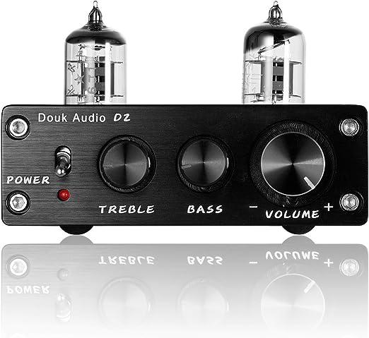nobsound HIFI 6J1/tubo vuoto preamplificatore stereo Preamp Digital Treble /& Bass Tone Control Argento