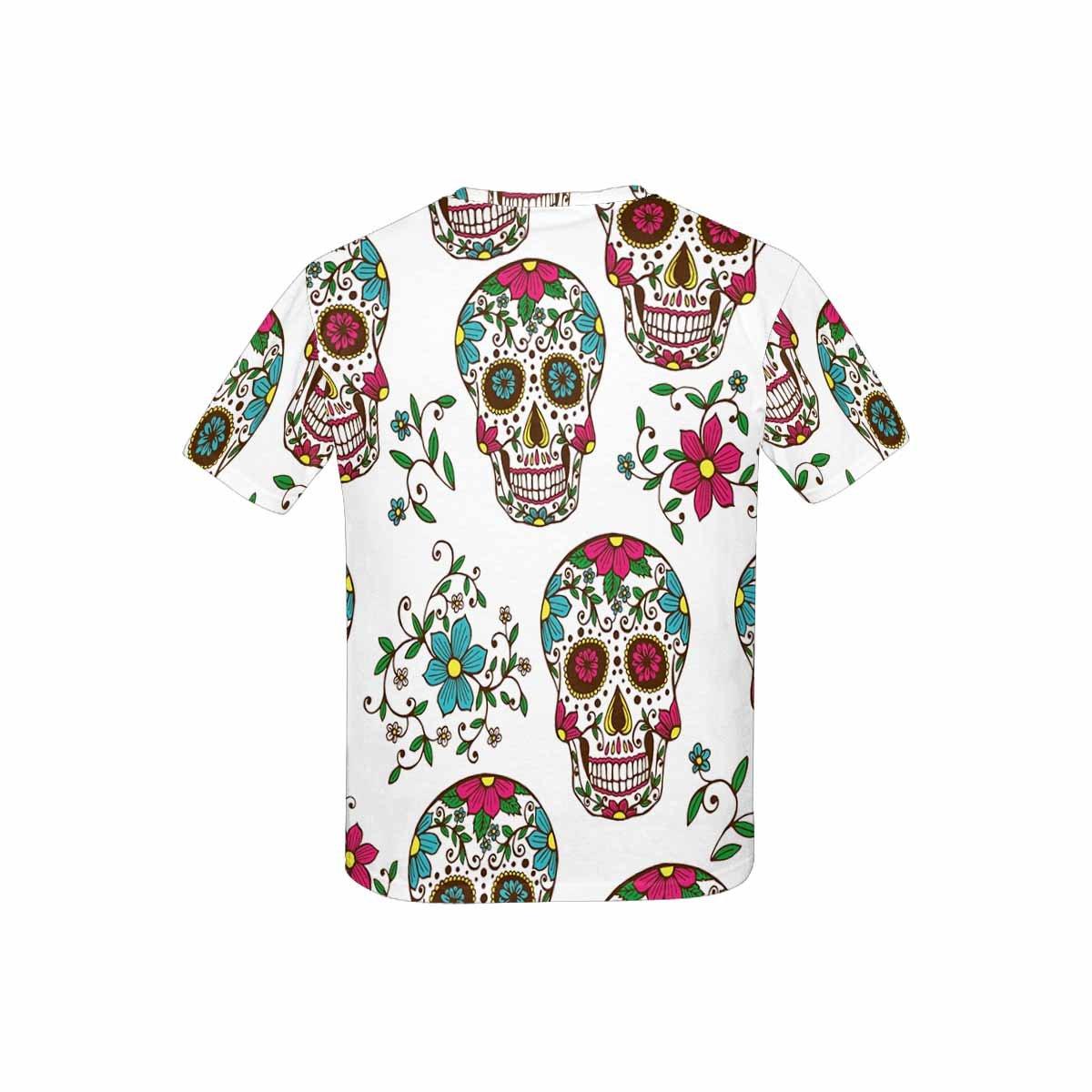 INTERESTPRINT Childs T-Shirt Skulls and Plants XS-XL
