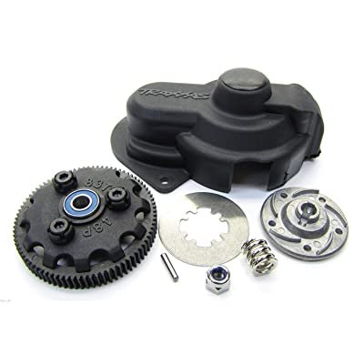 Traxxas RUSTLER VXL83T SPUR GEAR, SLIPPER CLUTCH w/ STEEL DISC & FRICTION PADS: Toys & Games