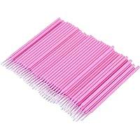 Kuinayouyi 100 Stks Dental Micro-Brush Wegwerp Materialen Tand Applicators Medium Fijn (roze)