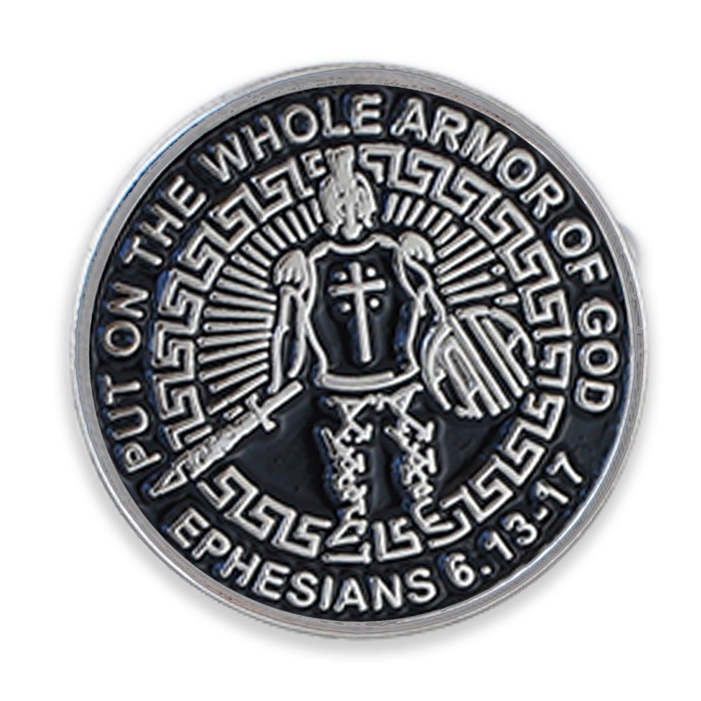 Forge Armor of God Enamel Tie Bar or Cufflinks Lapel Pin