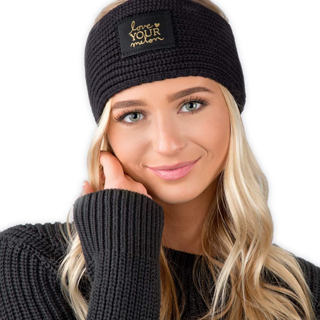 ccb9f7fd5b3 Love Your Melon Knit Headband Black Gold Foil Knit Headband GOHB00-2 ...