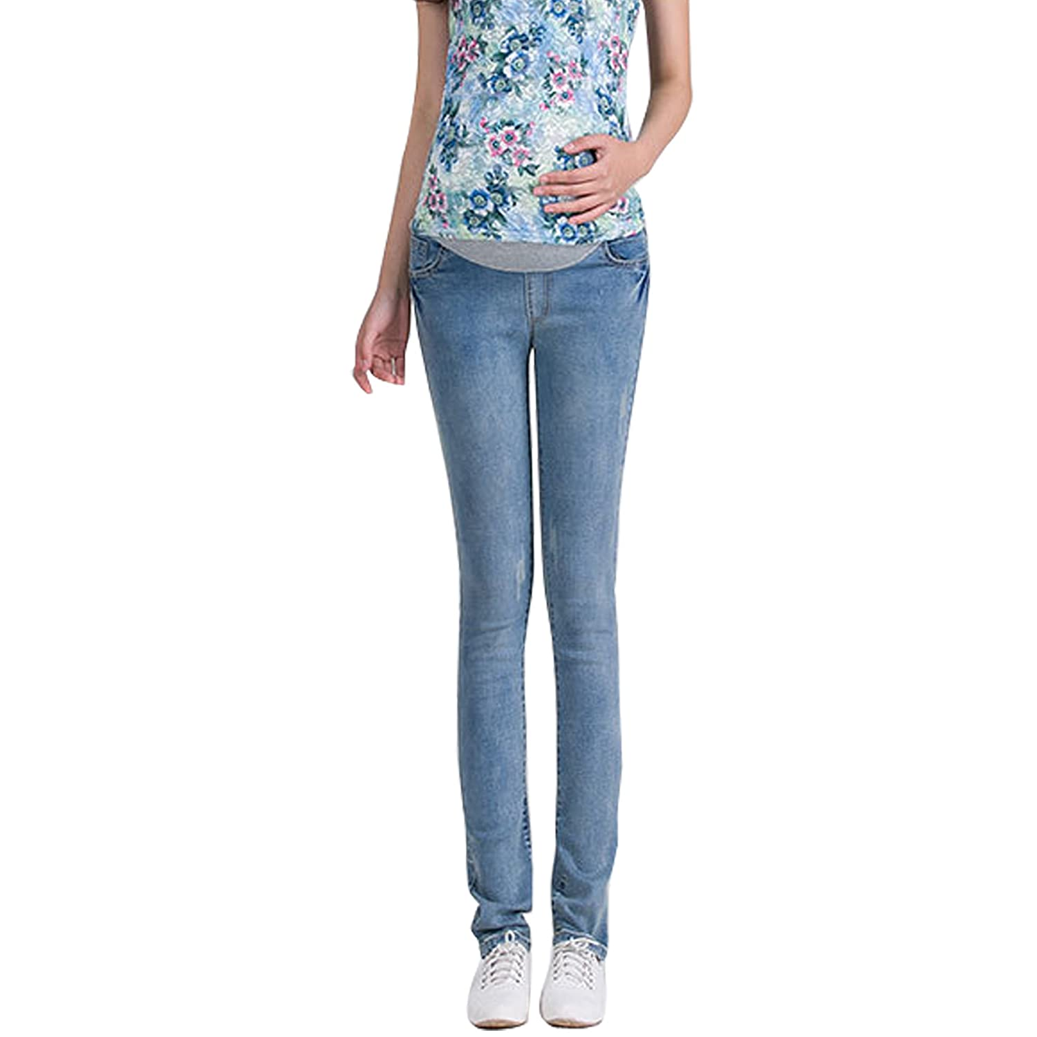 Gaorui Fashion Skinny Maternity Jeans: Over The Bump Slim Denim Pregnancy Pants Leggings