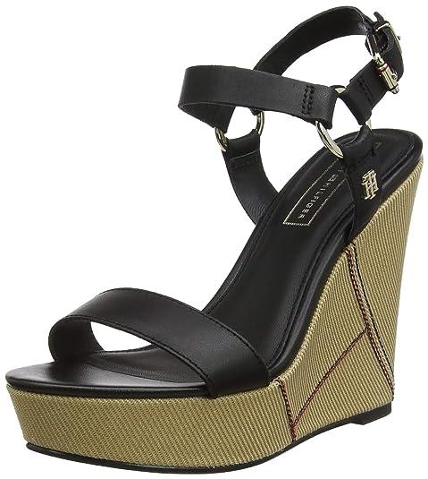 Tommy Hilfiger High Heel Sandalette black Damen Schuhe Leder
