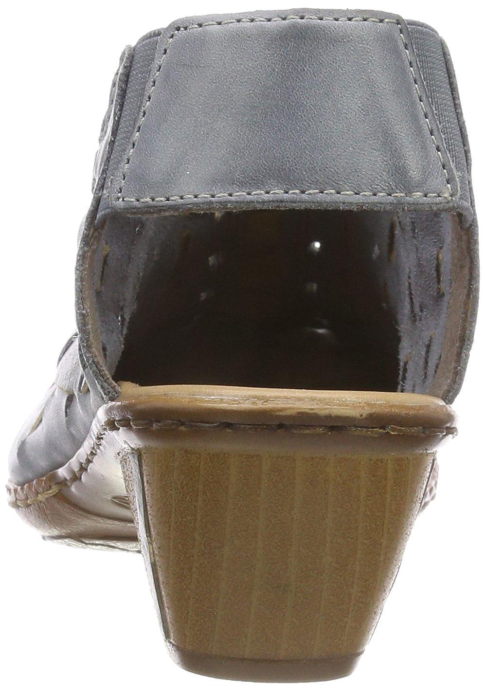 f63bc40ca35efc Mules Femme Rieker 46778-13 Mules et sabots Chaussures femme