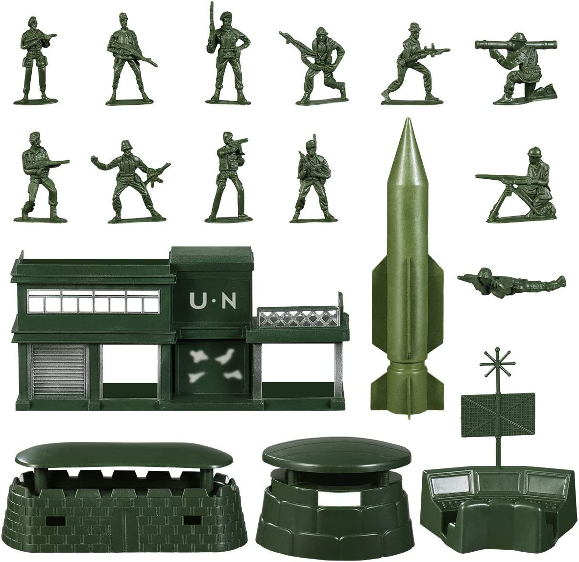 1 Set Military Sand Scene Model Kits Toy Army Accessories Toys for Birthday Gift