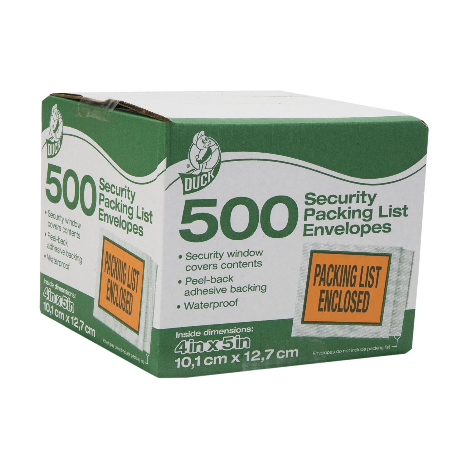 Duck Brand Security View Packing List Envelopes, 5.5 x 4.5-Inch, 500-Count (394742)