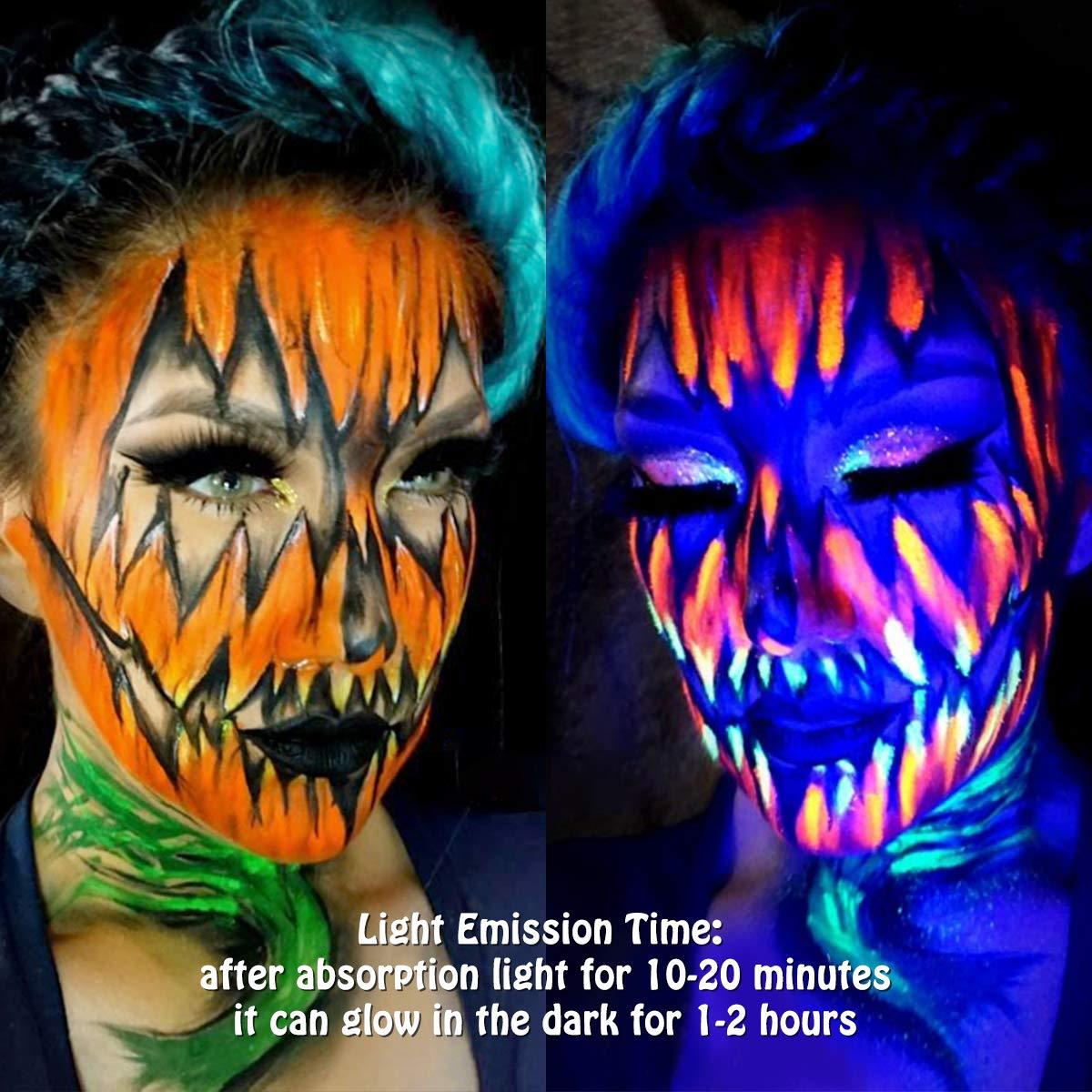 Luckyfine-8-x-28g-Pintura-Corporal-y-Facial-UV-Glow-Pintura-Neon miniatura 5