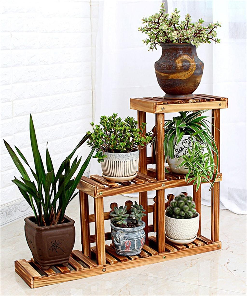 Blume Halter Multilayer Massiv Holz Leiter Balkon Blumenständer Blume Topf Regal