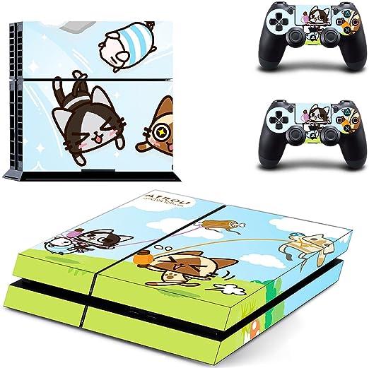qkonsole PS4 Cute Anime Diseño Skin Sticker Playstation 4 vinilo protector de pantalla – mate: Amazon.es: Electrónica