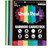 Colored Cardstock - 8.5 x 11 inch / 70 Sheets / 7 Colors Paper 65Ib 180g UAP01