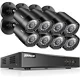 ANNKE H.264+ 8CH Security Camera System 1080P Lite Surveillance DVR and (8) 1080P HD Weatherproof Camera, Easy Remote View, Smart Playback, NO HDD