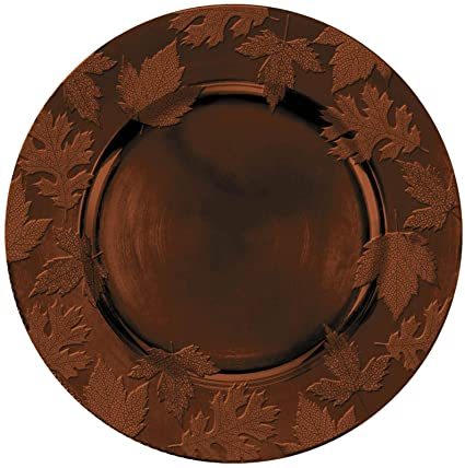 Amazon com: Round Embossed Charger Brown Melamine: Toys & Games