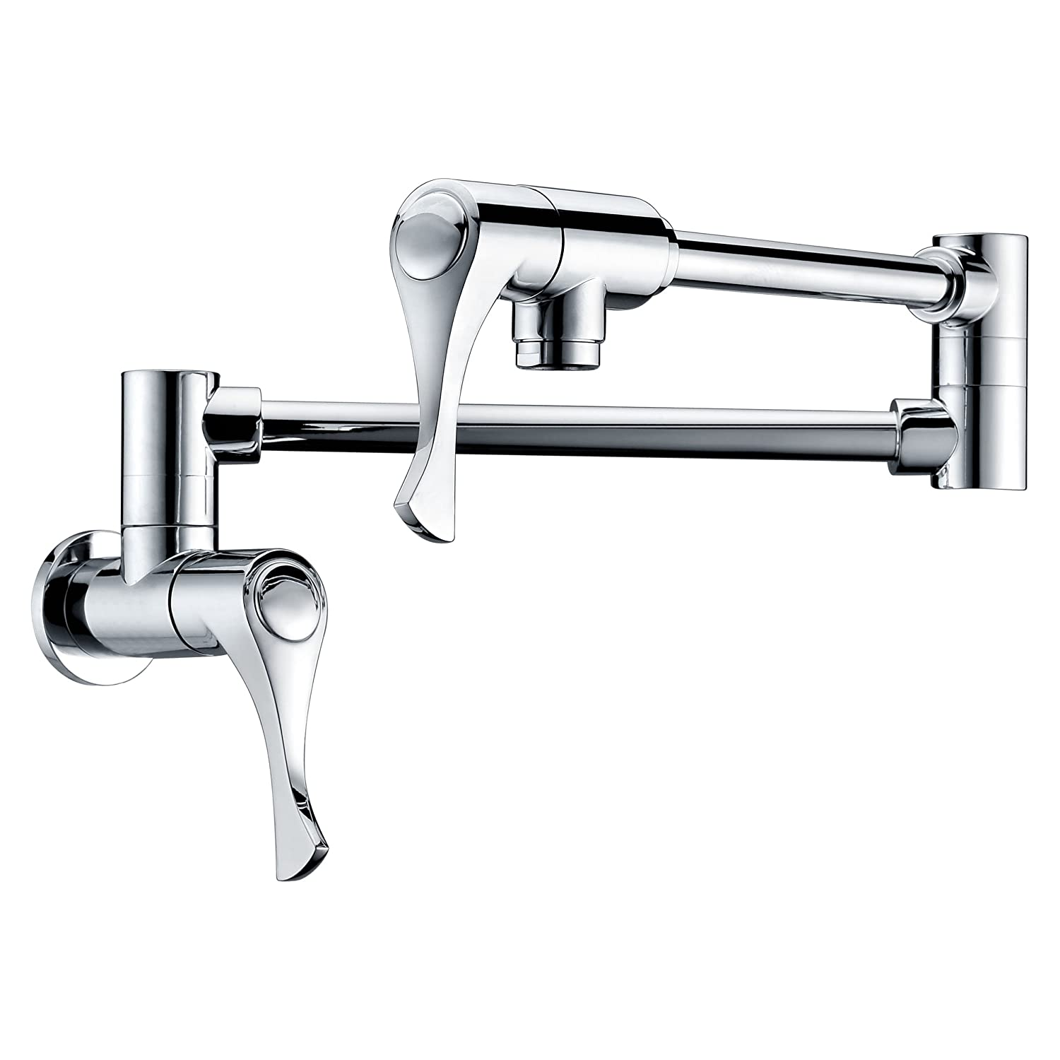 Dyconn Faucet WPF06-CHR Contemporary Modern Coosa Retractable Modern Wall Mount Pot Filler Faucet