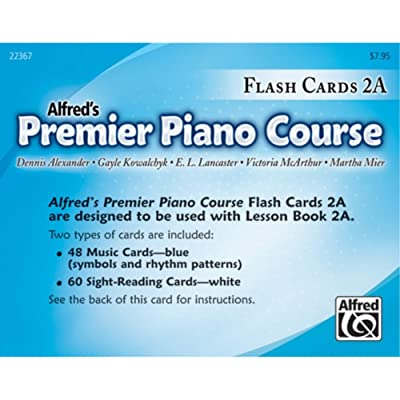 Alfred 00-22367 Premier Piano Course- Flash Cards44; Level 2A: Toys & Games