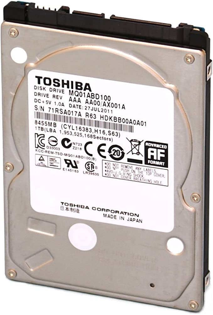 Toshiba MQ01ABD100 1TB 5400RPM SATA Slim Internal Hard Drive PS4 30 Day Warranty