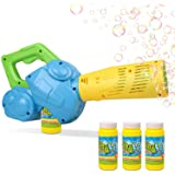 Duckura Bubble Leaf Blowers for Kids, Toddler Bubble Blower Machine with 3 Bubble Solutions, Outdoor Outside Play Toys, Birth