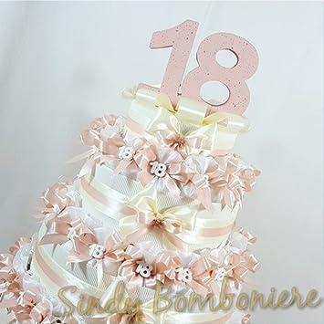 Torte Gastgeschenk Organzasäckchen Für 18 18 Geburtstag Mädchen