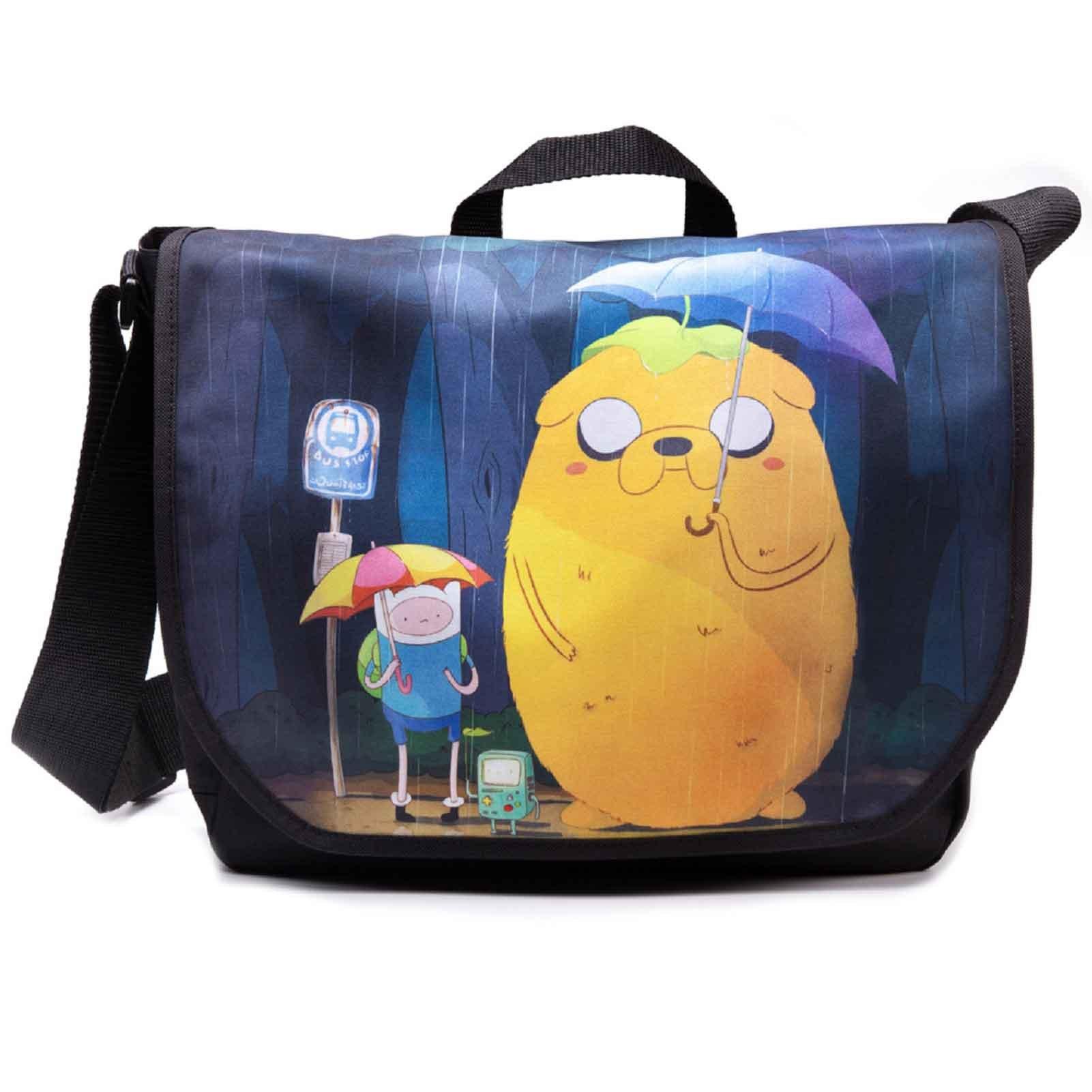 Adventure Time Messenger Bag Finn And Jake Official Black Totoro