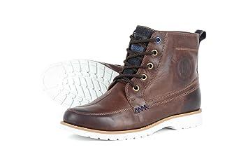 5beb7a1bff92 OVERLAP - OVP-11- Chaussures de Moto Marron, Taille 42: Amazon.fr ...