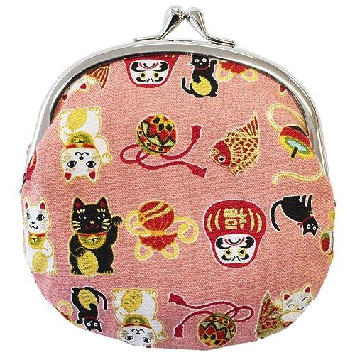Amazon.com: Chirimen Gamaguchi - Monedero con diseño de gato ...