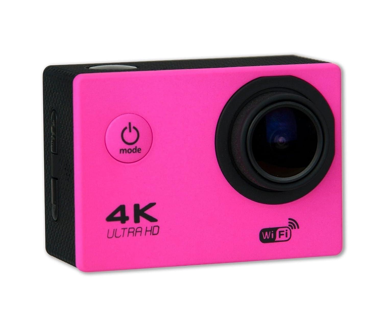 Amazon.com : Camara de Accion 4K 30cps WIFI Alta Definicion 16MP ROSA Resistente al Agua : Camera & Photo