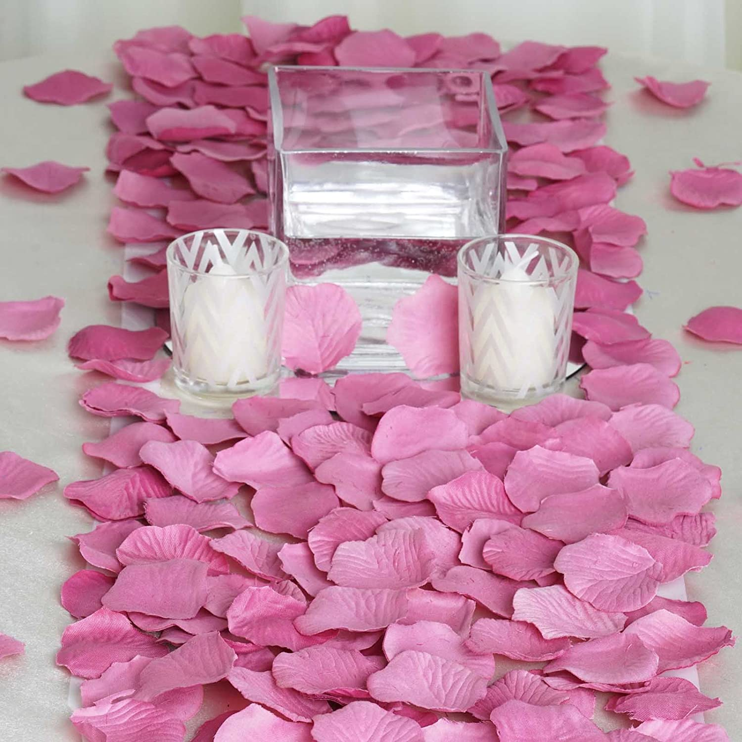 Amazon.com: BalsaCircle 4000 Silk Rose Artificial Petals Supplies ...