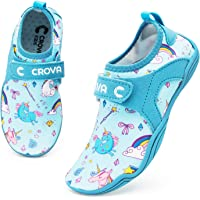 Crova Kids Water Sports Shoes Totally Drainage Quick-Dry Aqua Socks Barefoot Slip-on for Boys Girls Toddler