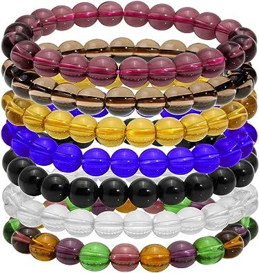 MILAKOO 8mm Beads Bracelet Handmade Yoga Healing Beads Bracelet Casual Jewelry