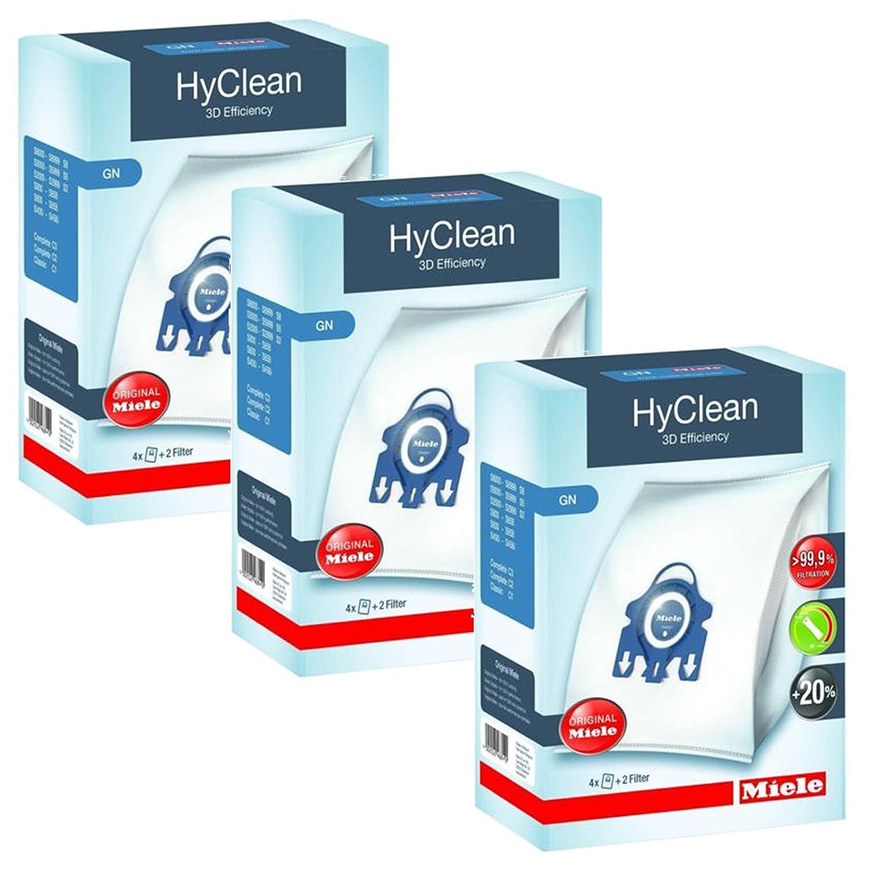 originales de Miele y filtros aptas para gatos y perros ecol/ógicas 2/cajas silenciosas Bolsas recogepolvo para aspiradora GN Hyclean series C2 y C3 completas