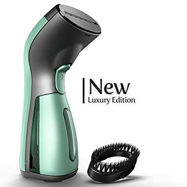 iSteam Steamer for Clothes - Luxury Edition - Upgraded with 360° Technology Spill-Proof [MS208 Green]