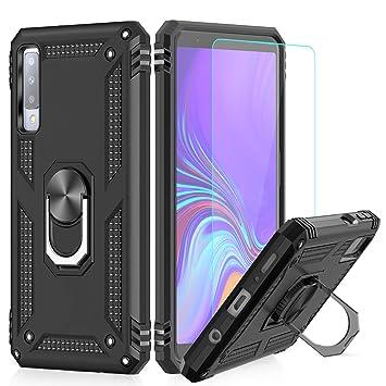 LeYi Funda Samsung Galaxy A7 2018 Armor Carcasa con 360 Anillo iman Soporte Hard PC y Silicona TPU Bumper antigolpes Fundas Carcasas Case para movil ...