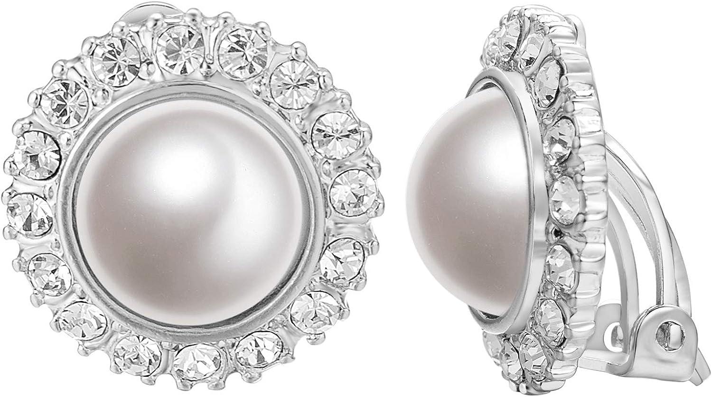 Yoursfs Natural de la perlas artificiales de agua dulce de flores pendientes para las mujeres chapado en oro tornillo de diente de sierra