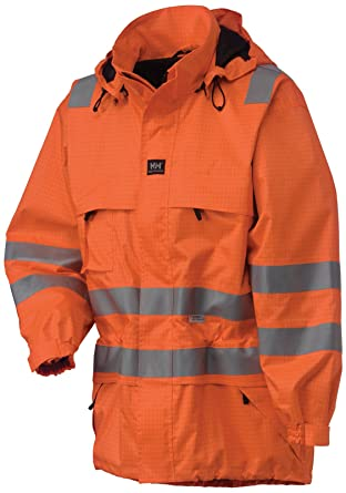 5e8b39902 Helly Hansen Hen Burg 71327 Light Samsung Jacket Lined Flame Retardant High  Visibility Red, 34